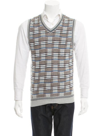 Junya Watanabe Comme des Garçons Check Pattern Sweater Vest None