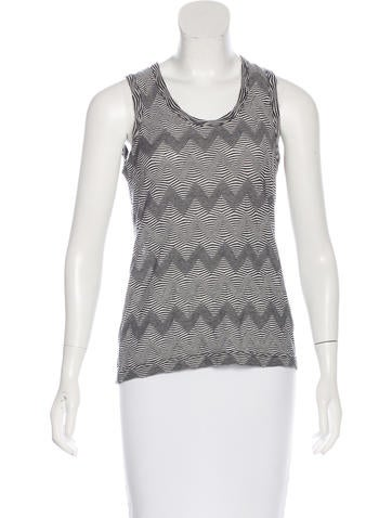 Junya Watanabe Comme des Garçons Striped Sleeveless Top None
