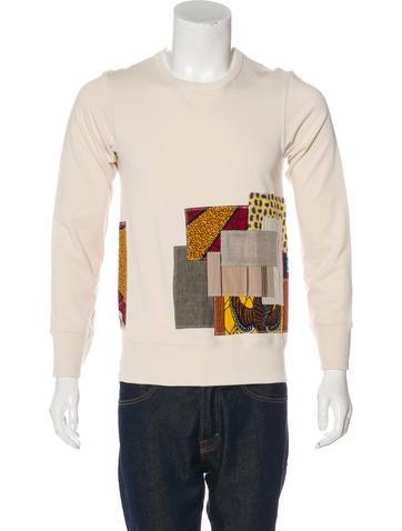 Junya Watanabe Comme des Garçons Patchwork Linen-Blend Sweatshirt None