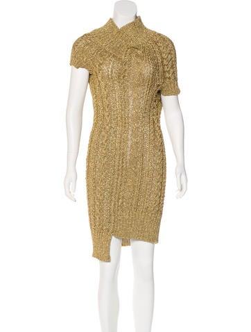 Junya Watanabe Comme des Garçons Metallic Sweater Dress None