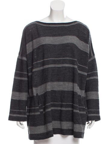 Junya Watanabe Comme des Garçons Striped Wool Top None