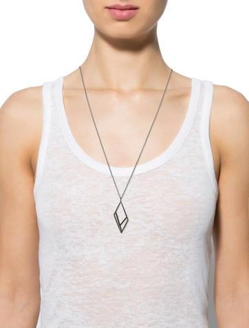 Black Diamond Pendant Necklace