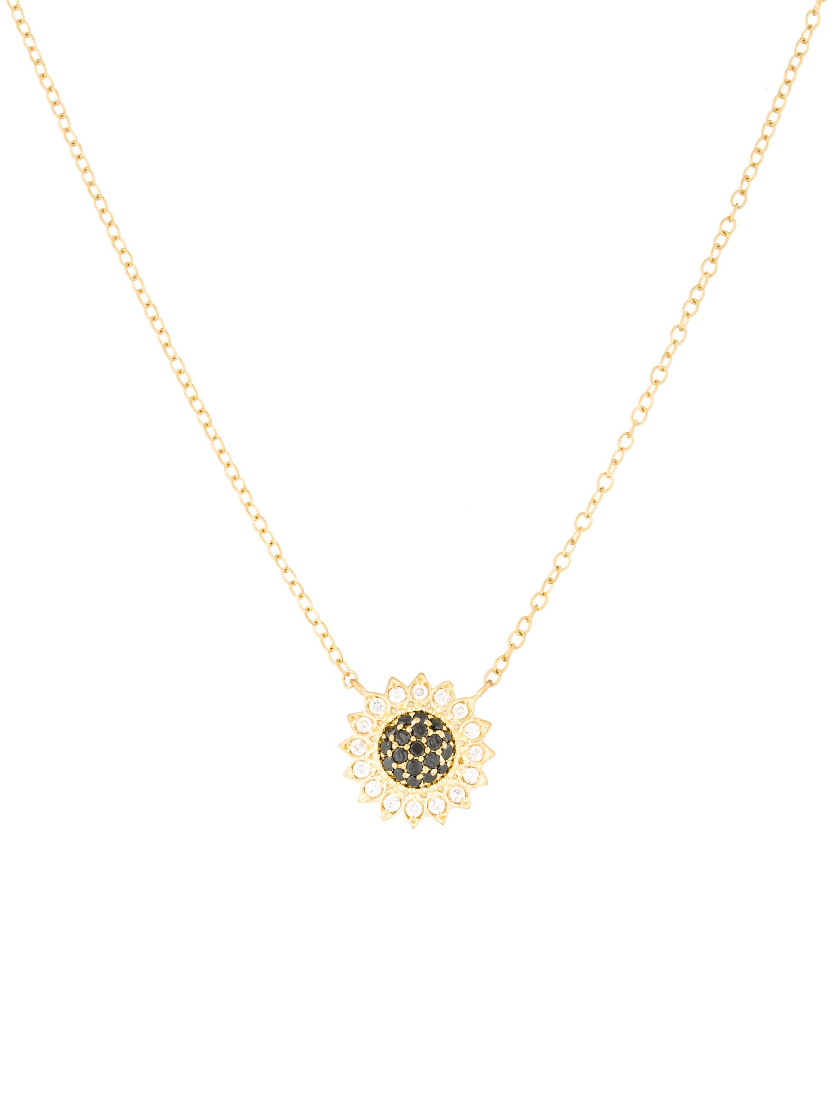 Jamie wolf 18k diamond sunflower pendant necklace necklaces 18k diamond sunflower pendant necklace aloadofball Gallery