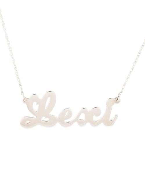 56f37b9df010e Jennifer Zeuner Serafina Mini Cursive Nameplate Necklace - Necklaces ...