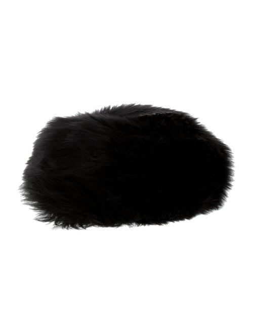 Karl Donoghue Lamb Fur Beret Black