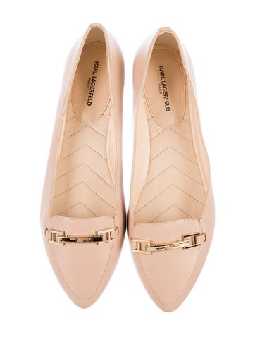 Leather Semi-Pointed Flats