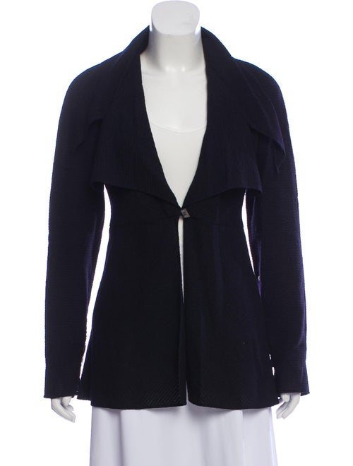 Karl Lagerfeld Draped Wool Jacket Black