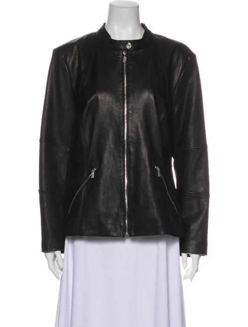 Karl Lagerfeld Leather Jacket Black