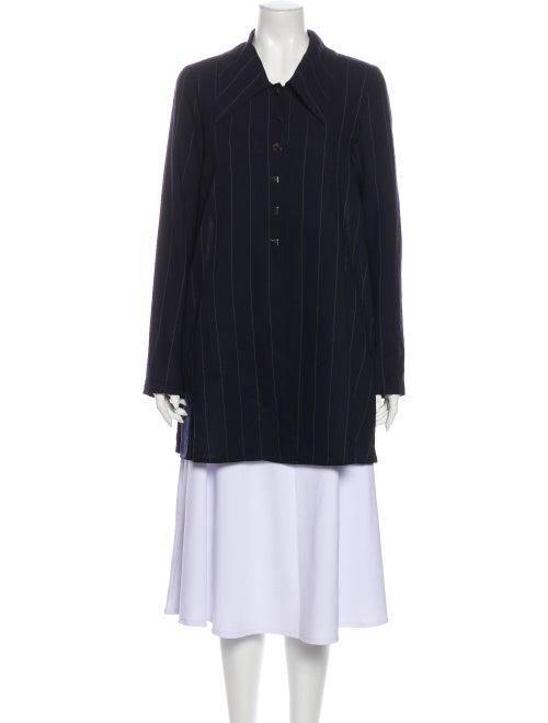 Karl Lagerfeld Wool Striped Jacket Wool