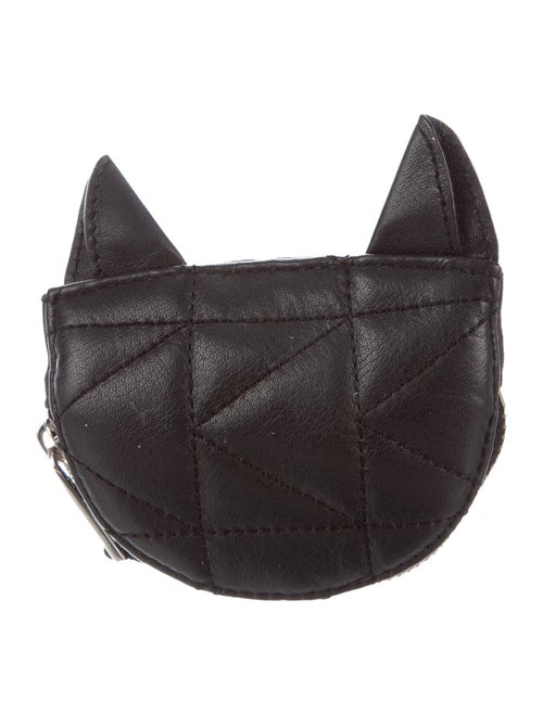 Karl Lagerfeld Kuilted Cat Coin Purse Black