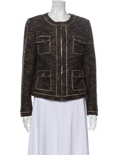 Karl Lagerfeld Tweed Pattern Evening Jacket Brown
