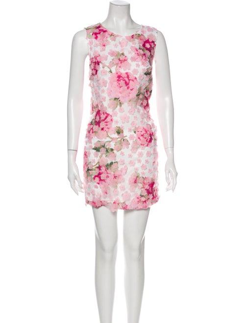 Karl Lagerfeld Floral Print Mini Dress Pink