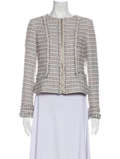 Karl Lagerfeld Tweed Pattern Evening Jacket
