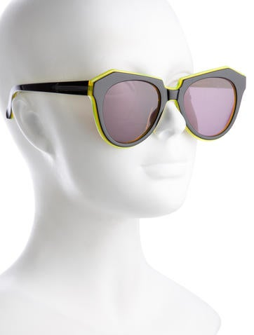Colorblock Resin Sunglasses