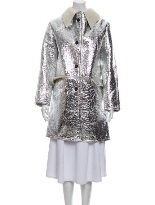 Kassl Shearling Tweed Pattern Evening Jacket Metal