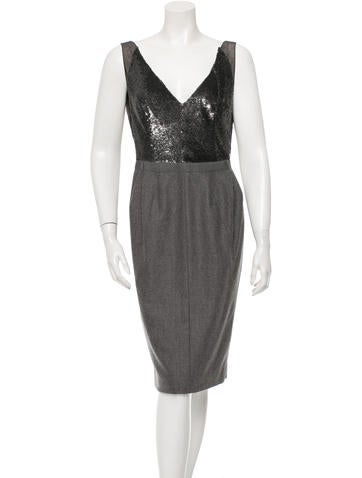 Kaufmanfranco Sequined Sleeveless Midi Dress
