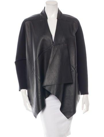 Kaufmanfranco Rib Knit Paneled Leather Jacket None
