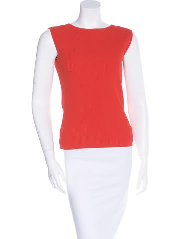 Kaufmanfranco Leather-Accent Stretch Knit Top None
