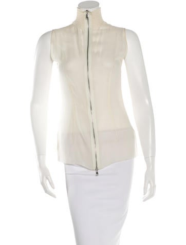 Kaufmanfranco Silk Rib Knit Paneled Top None