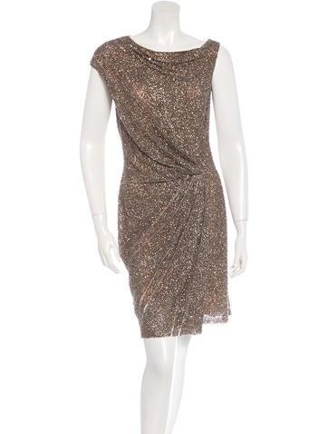 Kaufmanfranco Sequinned Sheath Dress None