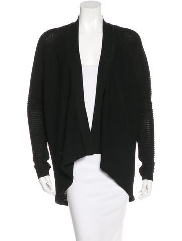 Kaufmanfranco Rib Knit Open Front Cardigan w/ Tags None