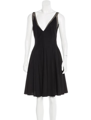 Kaufmanfranco Pleated Virgin Wool Dress