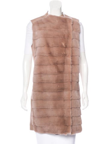 Kaufmanfranco Leather & Mink Vest None