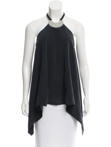 Kaufmanfranco Embellished Silk Top w/ Tags None