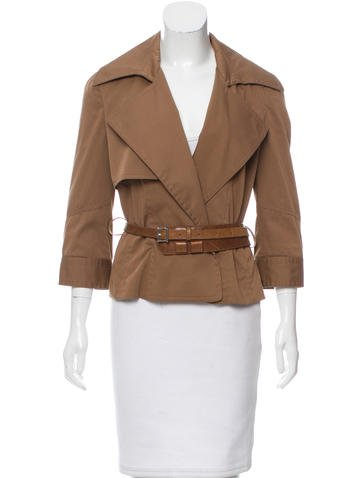 Kaufmanfranco Belted Silk-Blend Blazer None