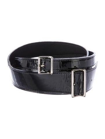 kaufmanfranco patent leather wrap around belt