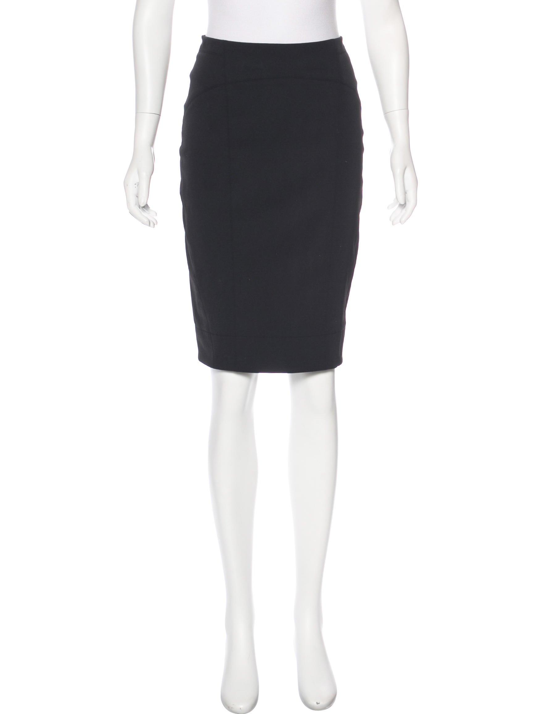 kaufmanfranco stretch knee length skirt clothing