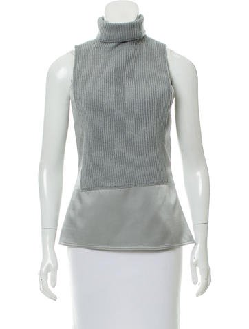 Kaufmanfranco Silk-Paneled Wool Top None