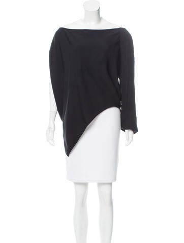 Kaufmanfranco One-Sleeve Asymmetrical Top None