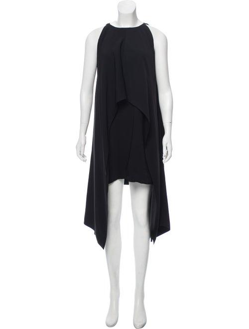Kaufmanfranco Flyover Sleeveless Cape Dress Black
