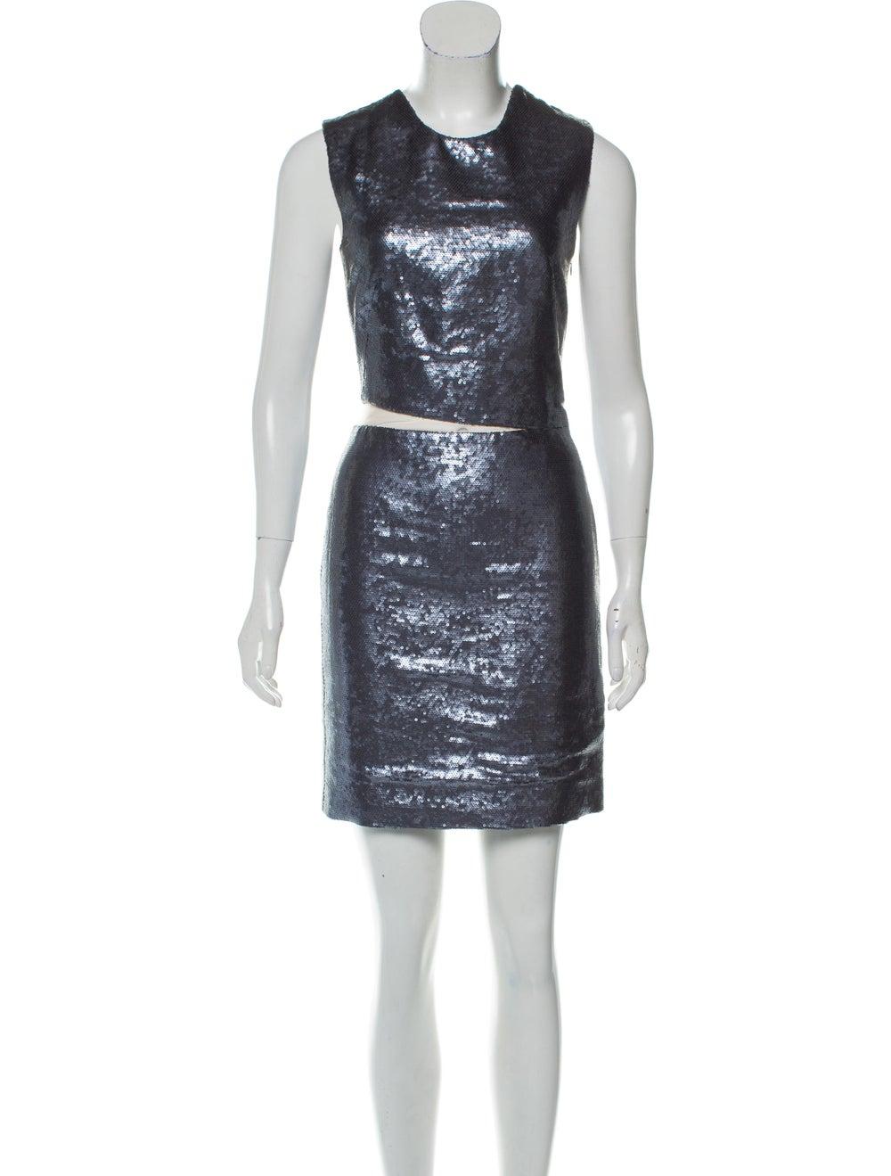 Kaufmanfranco Mesh-Trimmed Sequin Dress - image 1