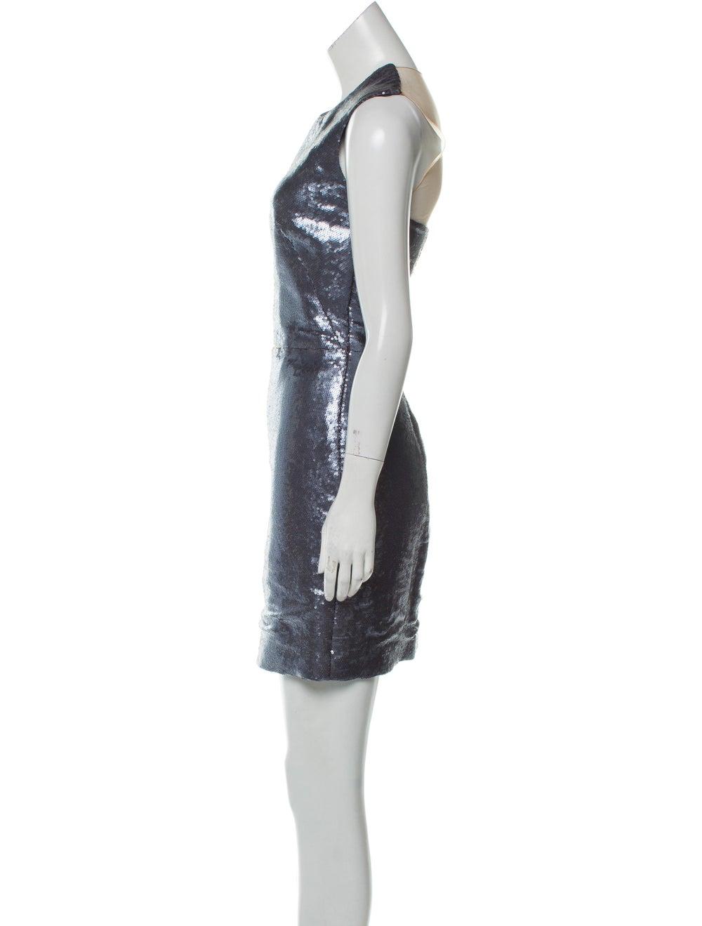 Kaufmanfranco Mesh-Trimmed Sequin Dress - image 2