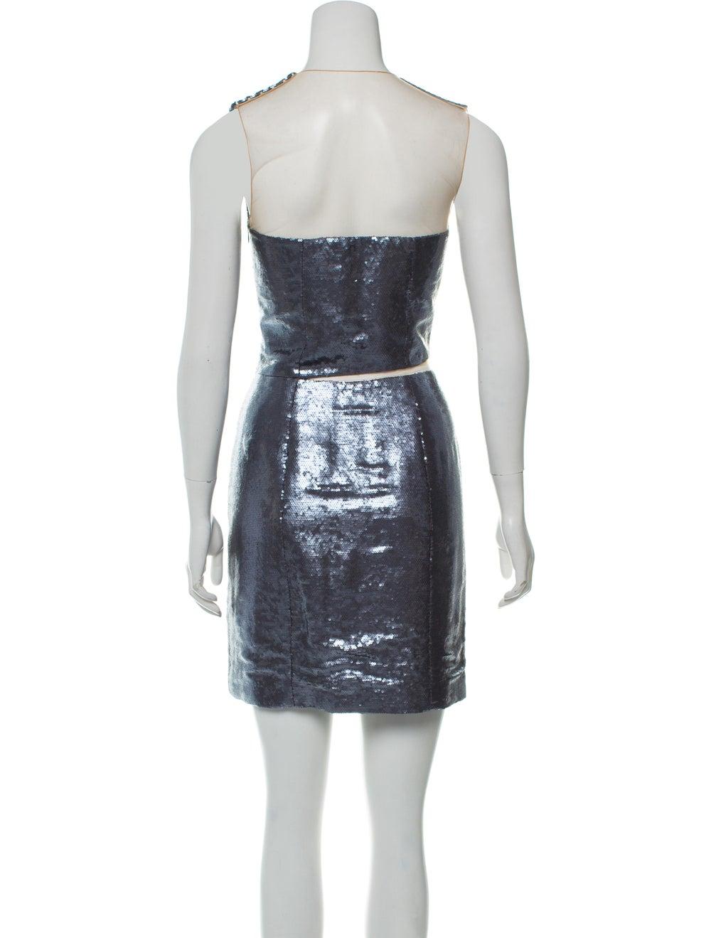 Kaufmanfranco Mesh-Trimmed Sequin Dress - image 3