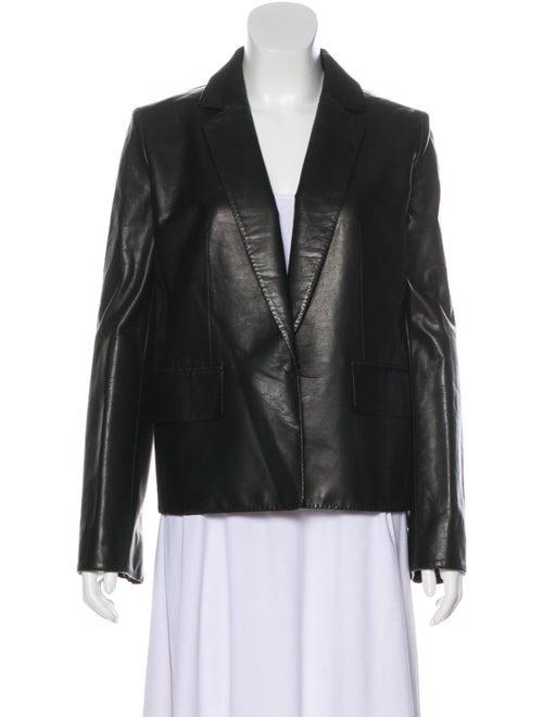 Kaufmanfranco Leather Contrast Blazer Black