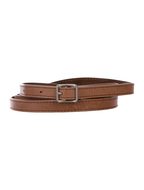 Kaufmanfranco Leather Wrap Around Belt Brown