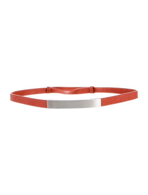 Kaufmanfranco Skinny Leather Waist Belt Orange