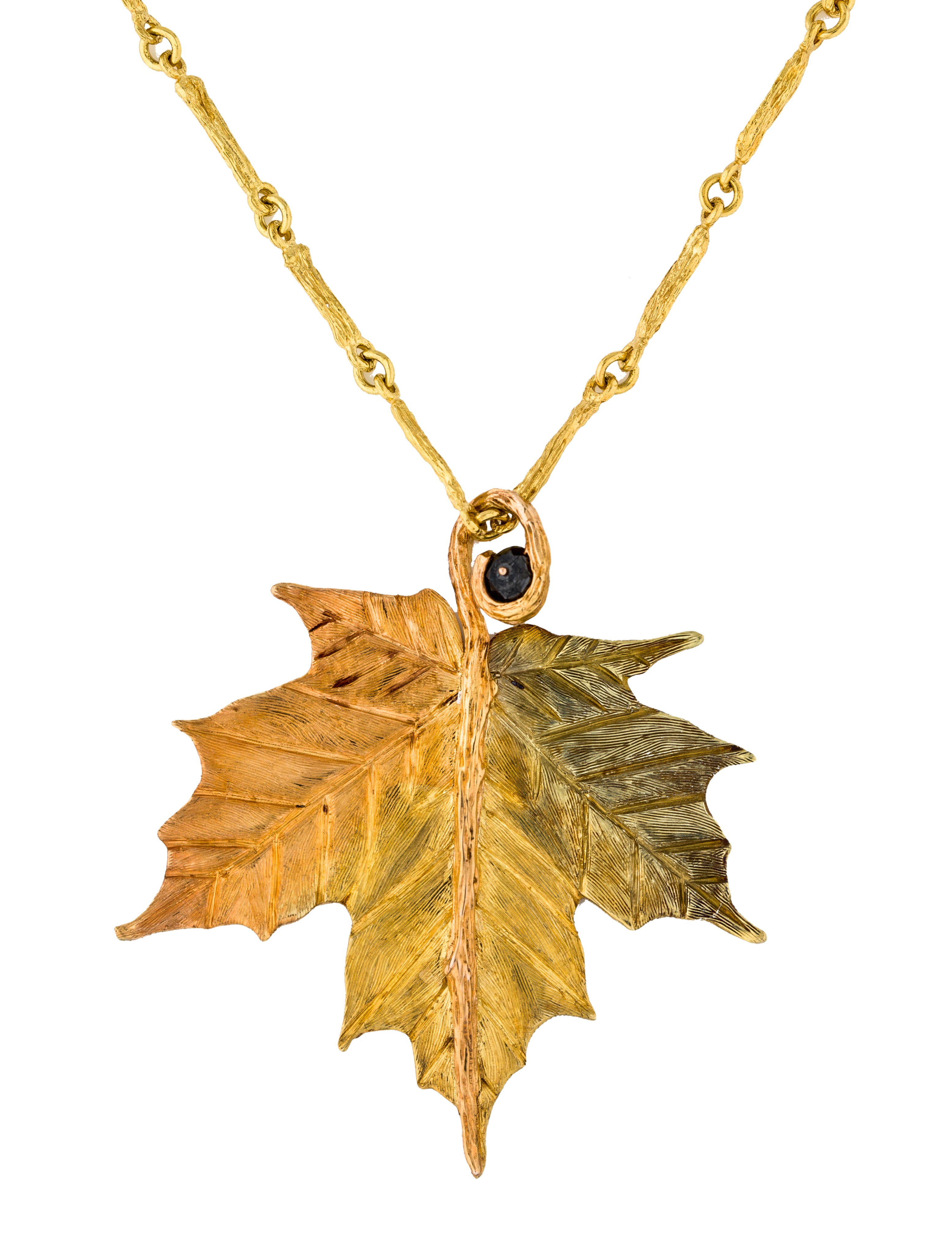 K brunini 18k diamond maple leaf pendant necklace necklaces 18k diamond maple leaf pendant necklace aloadofball Image collections