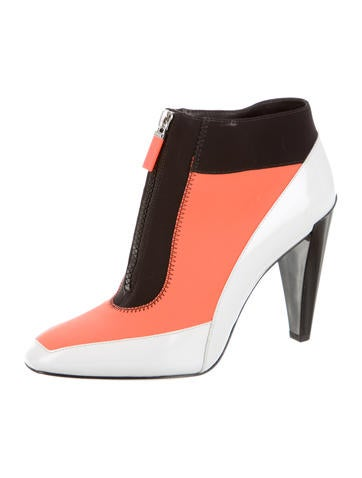 Neoprene Colorblock Ankle Boots