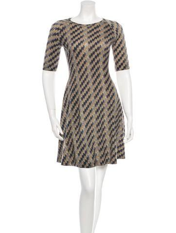 Wool Printed Dress w/ Tags