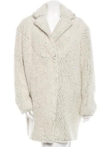 Faux Shearling Wool-Blend Coat