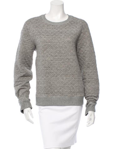Kenzo Quilted Round Neck Sweater None