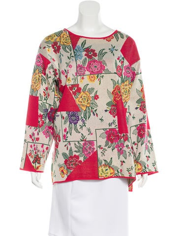 Kenzo Floral Knit Sweater None