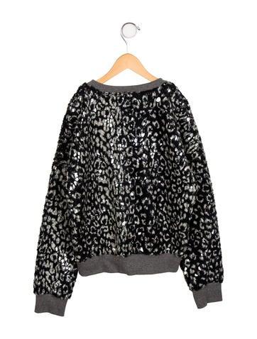 Girls' Embellished Pullover Sweatshirt