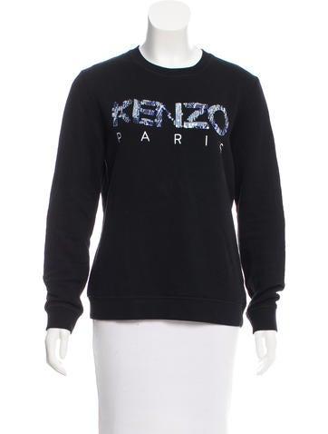 Kenzo Sequined Logo Sweatshirt None