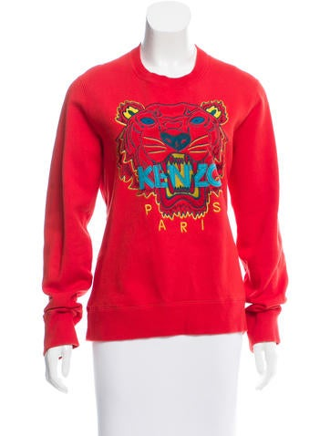 Kenzo Embroidered Crew Neck Sweatshirt None
