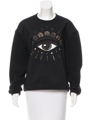 Kenzo Embellished Embroidered Sweatshirt